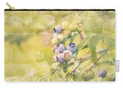 Blueberries Painted On The Wall Carry-all Pouch by Alanna DPhoto