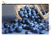 Blueberries Spilling From Wicker Basket Kitchen Art Carry-all Pouch