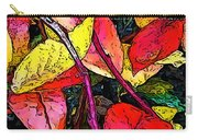 Blueberry Autumn Leaves Carry-all Pouch