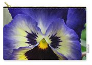 Blueberry Pansy Carry-all Pouch