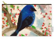 Bluebird Amid Apple Blossoms Carry-all Pouch