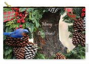 Bluebird Christmas Wreath Carry-all Pouch