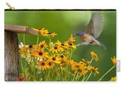 Bluebird Flying Over The Black Eyed Susans Carry-all Pouch
