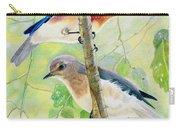Bluebird Pair Carry-all Pouch