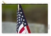 Bluebird Perched On American Flag Carry-all Pouch