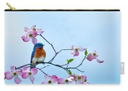 Bluebird Visits Red Dogwood Carry-all Pouch