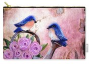 Bluebirds And Butterflies Carry-all Pouch
