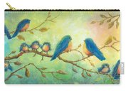 Bluebirds On Branches Carry-all Pouch