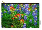Bluebonnet Patch Carry-all Pouch by Inge Johnsson