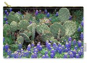 Bluebonnets And Cacti Carry-all Pouch