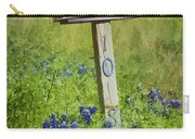 Bluebonnets And Mailbox Carry-all Pouch