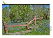 Bluebonnets And Stairs Carry-all Pouch