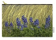Bluebonnets With Ladybug Carry-all Pouch