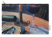 Blues And Wine Carry-all Pouch by Donna Tuten