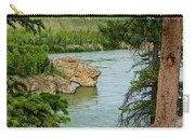 Bluff Over The River In Five Finger Rapids Recreation Site Along Klondike Hwy-yt  Carry-all Pouch