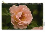 Blush Pink Rose With Dew Carry-all Pouch