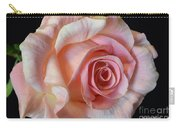 Blushing Pink Rose Carry-all Pouch