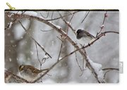 Blushing Red Cardinal In The Snow Carry-all Pouch