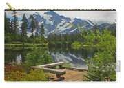 Board Walk- Lake- Fir Trees And Mount Baker Carry-all Pouch