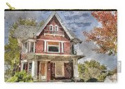 Boarded Up Old Characer Home Watercolor Carry-all Pouch