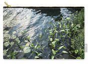 Boat At Dock On Lake Carry-all Pouch by Elena Elisseeva