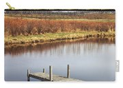 Boat Dock On A Pond In South West Michigan Carry-all Pouch