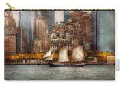Boat - Governors Island Ny - Lower Manhattan Carry-all Pouch by Mike Savad