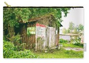 Boat Launch Outhouse - Texture Bw Carry-all Pouch
