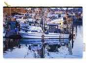 Boat Mast Reflection In Blue Ocean At Dock Morro Bay Marina Fine Art Photography Print Carry-all Pouch