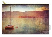 Boat On Lake Maggiore Carry-all Pouch