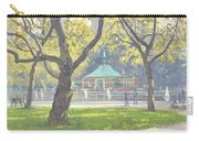 Boat Pond, Central Park Oil On Canvas Carry-all Pouch