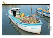 Boat Reflected In Sozopol Harbour Carry-all Pouch