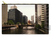 Boat Ride On The Chicago River Carry-all Pouch