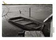 Boat In Ice - Lake Wingra - Madison - Wi Carry-all Pouch