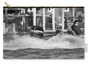 Boat Wake Black And White Carry-all Pouch