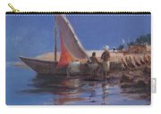 Boat Yard, Kilifi, 2012 Acrylic On Canvas Carry-all Pouch