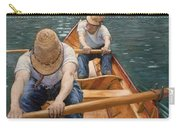 Boaters Rowing On The Yerres Carry-all Pouch
