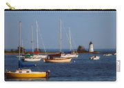 Boating On Long Island Sound Carry-all Pouch by Joann Vitali