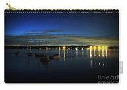 Boating - The Marina At Night Carry-all Pouch by Paul Ward