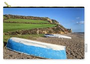 Boats Along Branscombe Beach Carry-all Pouch