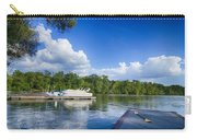 Boats At Dock On A Lake With Blue Sky Carry-all Pouch