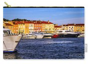 Boats At St.tropez Harbor Carry-all Pouch by Elena Elisseeva