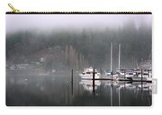 Boats Between Water And Fog Carry-all Pouch