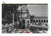 Boats By The Plaza De Espana Seville Carry-all Pouch by Mary Machare