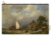 Boats Docking In An Estuary Carry-all Pouch