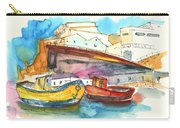 Boats In Ericeira In Portugal Carry-all Pouch by Miki De Goodaboom