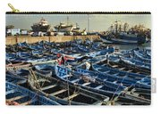 Boats In Essaouira Morocco Harbor Carry-all Pouch