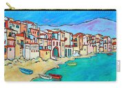 Boats In Front Of Buildings Viii Carry-all Pouch by Xueling Zou