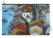 Boats In Front Of The Buildings Iv Carry-all Pouch by Xueling Zou