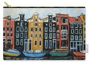 Boats In Front Of The Buildings Vi Carry-all Pouch